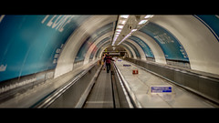 Going Underground (Sean Batten) Tags: london england unitedkingdom gb nikon df 58mm cinematic cinema bankstation waterlooandcityline tube subway metro londonunderground