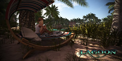LAGOON Tropical Rentals and relaxing for everyone.  (Vita Camino) Tags: secondlife sl vita camino sim beach summer sand ocean tropical public private slur best new 2016 trompe sea visit locations