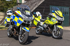 Police Bikes - Old Warden Edwardian Pageant 2016 (harrison-green) Tags: old warden shuttleworth collection air show airshow 2016 edwardian pageant aircraft aviation world war 2 two ii display shgp steven harrisongreen photography canon eos 700d sigma 150500mm 18250mm raf royal force navy fleet arm carrier hawker hurricane sea mk1 outdoor airplane vehicle t6 texan harvard usaaf usaf united states army corps sopwith triplane 1 one dixie gloster gladiator police bike motorbike road policing unit