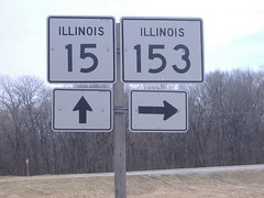 015-153 (paulthemapguy) Tags: 153 15 illinois route highway state sign