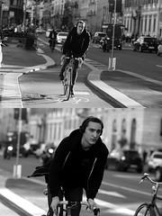 [La Mia Citt][Pedala] (Urca) Tags: milano italia 2016 bicicletta pedalare cicllista ritrattostradale portrait dittico nikondigitale mir bike bicycle biancoenero blackandwhite bn bw 881118