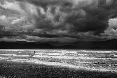 1 +1 = 1~ Ireland (~mimo~) Tags: ireland europe water ocean sea beach storm clouds one man 111 waves inchbeach drama blackandwhite canon