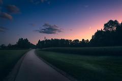 Moonlight (Dejan Hudoletnjak) Tags: moonlight road landscape night moon sky clouds magic underthemoonlight radiotower tower