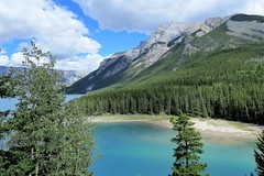 Above the Lake (Patricia Henschen) Tags: twojacklake twojack lake mountain mountains clouds rocky northern rockies canada canadian nationalpark parks parcs banff banffnationalpark alberta