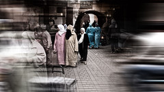 walking in the souks (j.p.yef) Tags: peterfey jpyef yef africa morocco marokko marrakech souks people women streetlife digitalart h elitegalleryaoi bestcapturesaoi