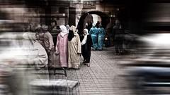 walking in the souks (j.p.yef) Tags: peterfey jpyef yef africa morocco marokko marrakech souks people women streetlife digitalart h