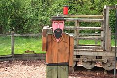 Mr Plank (tonydickins) Tags: wood plank model man figure railway train corfe castle swanage dorset uk statue