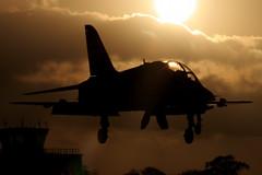 Sunset Hawk at Yeovilton (Gareth Stringer - Global Aviation Resource) Tags: sunset airport raf airfield airbase royalnavy