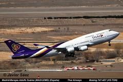 Thai Airways  Boeing 747-4D7 (HS-TGN) (javier sz) Tags: spain thai grupo boeing airways aviones adolfo comerciales surez 7474d7 madridbarajas madlemd