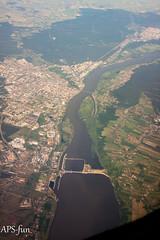 Włocławek (APS fun) Tags: fromabove airplanephotography włocławek flightphoto zdjęcielotnicze