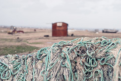 Dungeness  (Explore 10/04/15) (only lines) Tags: beach kent rope dungeness nets