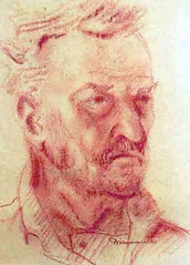 Luigi Diamante. The artist's father (vittorio vida) Tags: red portrait man art painting drawing father sanguigna painters friuli diamante udine arye pittura pittori luigidiamante