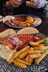 Wetherspoons Brunch! (Jainbow) Tags: breakfast restaurant bacon beans toast egg sausage chips chain fries portsmouth brunch wetherspoons isambardkingdombrunel guildhallsquare rashers jainbow wetherspoonschipsaremadebymccains