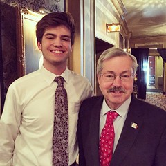 Governor Terry Branstad and Antonio Lederman at Tolerance Week Dinner