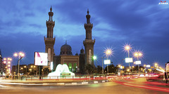 (Ayman Abu Elhussin) Tags: street old blue art history tourism fountain clouds speed square lights cityscape view nightshot god islam prayer egypt portsaid arab lamps longshutter  allah  ayman    2015      nikon3200                ayman6681  peacemosque  aymanabuelhussin adleymansour    atefelsadatst