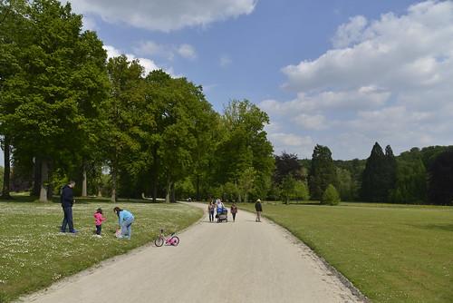 Promeneurs au parc
