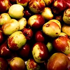 ginjol jujube pommesurette azufaifo giuggiola ナツメ fruit... (Photo: Aviones Plateados on Flickr)