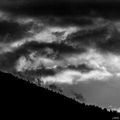 Invasion (Julien Rode) Tags: arbre ciel contraste montagne mribel nb nature nuages ombreschinoises portfolio silhouette