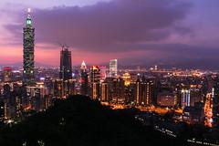 Mt.Elephant in Taipei (Jack_Wei) Tags: taiwan taipei taipei101 night view light city buliding sunset car mountain      101         canon  jackwei