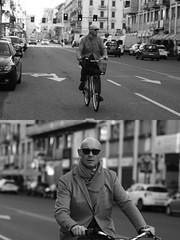 [La Mia Citt][Pedala] (Urca) Tags: milano italia 2016 bicicletta pedalare ciclista ritrattostradale portrait dittico bike bicycle biancoenero blackandwhite bn bw 872125 nikondigitale mir