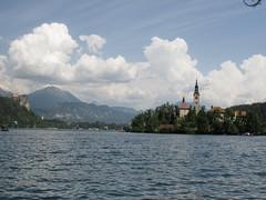 Bled, Slovenia (nina.pesut) Tags: bled slovenia lake travel europe explore sky clouds island blue nature