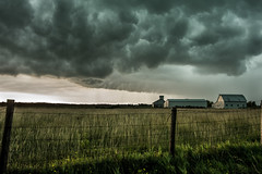 Hopedale Front (burnhamgraphicarts) Tags: barn farm landscapescenic clouds fenceline field hopedal landscape portfolio sell storm stormchasing weather