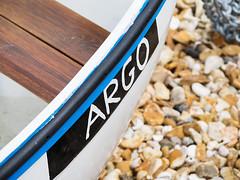 ARGO rowing boat - Hayling Island (fstop186) Tags: argo rowingboat tender haylingisland blue beach