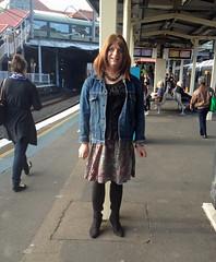 Redfern Station (justplainrachel) Tags: tv boots cd skirt tgirl jacket denim crossdresser lage rache blous justplainrachel