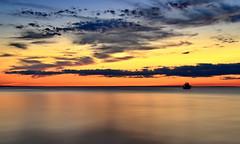 twilight colors (anj_p) Tags: lakeontario stcatharines torontoskyline lake minimalism ship simplicity twilight