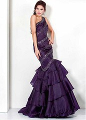 Chic Organza Satin & Sequin Lace One Shoulder Neckline Floor-length Mermaid Sexy Prom Dress (miyadresses2016) Tags: chicdress sequindress lacedress oneshoulderdress mermaiddresses sexypromdress purpledress longformaldresses sheathdress