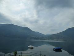 Lake Lugano in Italy (ell brown) Tags: trees italy mountain lake mountains tree boats switzerland boat ticino coach italia lombardia lombardy oria lakelugano glaciallake lagodilugano italianlakedistrict ss340 galleriaalbogasio