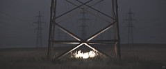 (Alexandr Morgunov ) Tags: night powerline light steppe     2391