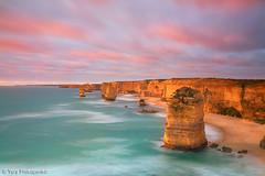 Sunset at Twelve Apostles (renatonovi1) Tags: sunset twelveapostles greatoceanroad victoria vic australia beach ocean cliff clouds coast sea swell seascape landscape