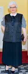 Ingrid022518 (ingrid_bach61) Tags: pleatedskirt faltenrock waistcoat weste bowblouse schleifenbluse mature