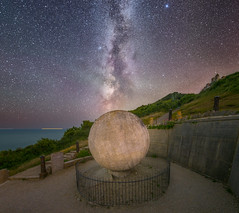 Centre of the Galaxy (DorsetScouser) Tags: durlstoncountrypark durlston swanage dorset astrophotography astrophotograph darkskies darksky milkyway globe galaxy travel night longexposure dorsetscouser stephenbanks sea landscape seascape