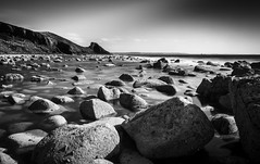 Intensity (dolbinator1000) Tags: black white blackandwhite bw blanc noir blancetnoir bn land scape sea landscape seascape monochrome mono pano panorama panoramic water coast coastal rock rocks rocky wave waves sky cloud clouds cloudy newgale pembrokeshire wales uk