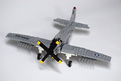 Douglas AD-6 Skyraider (2) (Dornbi) Tags: lego douglas ad6 a1h skyraider spad korea vietnam navy us