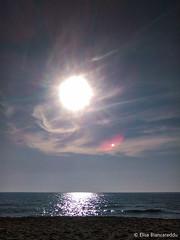 Sunshine - due soli (lilith_evi) Tags: sunshine sun light summer sea planet red blue gray luce riflesso mare cielo nuvole paesaggio estate sole sardegna sardinia