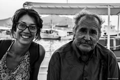 235#365 Il Conte di paros (Fabio75Photo) Tags: anziano conte giovane uomo man donna woman bianco nero white black sorriso sorridere baffi occhiali lunettes occhi capelli vento grecia melteni paros isola island people