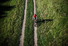 361/365 Overpass (ewitsoe) Tags: bike rider summer hot ewitsoe nikon d80 viewfromabove above bridge 365 bicycle river grass poznan poalnd city poland man riding workignout health trail