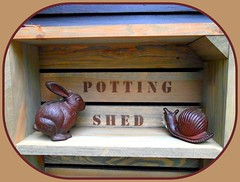 366 - 214 (ttelyob) Tags: 366 366214 snail rabbit pottingshed picmonkey