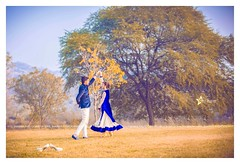 KARAM & KUL - It had to be you. (Vipul Sharma 007) Tags: best wedding photography goals pre post weddings indian punjabi ethnic wear couples twining twinning blue is colour vibrance nature landscape setup trees portraits twirl swirl dance away floral patterns branches great lanscape smiling smile pretty follow us