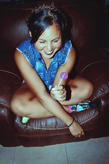 Funny Lollipop (TheJennire) Tags: photography fotografia foto photo canon camera camara colours colores cores light luz young tumblr indie teen braids hair cabello pelo cabelo people portrait girl lollipop candy fashion style summer vacation kissimmee usa eua florida self