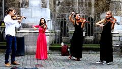 In Concert (Burnett NL) Tags: street music artists aken aachen dom aachener streetphotography photography candid viool violin violine canon g7x