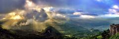 citadel (danielhuiting) Tags: citadel haiti cap hatien mountain panorama view gorgeous sunset clouds sun flares streaks peaking through green valleys vally below fortress canon