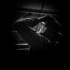 Up to London (Lindi m) Tags: london sirjohnbetjeman poetlaureate stpancrasstation statue lightshadows vignette squarecrop