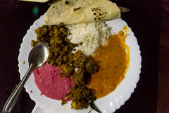 Appelley (Kerala), India (DitchTheMap) Tags: 2016 appelley backwaters food india kerala restaurant asia banana black bread chapati chutney color colorful cooked cuisine curry dal dish flat flavor flickr foods healthy houseboat indian lanka leaf lentils meal naan natural nutrition popular red rice serviceware south southern spices spicy spread sri steamed traditional variety white yellow