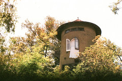 Exa 1C Grace Mansion Tower () Tags: original busch gardens pasadena los angeles california history heritage theme park film tour mill waterwheel 1920s adolphus public private abandoned exa east germany ddr gdr slr m42 classic retro vintage 35mm camera