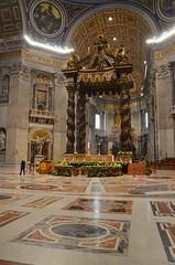 The Papal Altar & Baldacchino (Joe Shlabotnik) Tags: italy altar march2016 cathedral canopy baldacchino rome 2016 church stpetersbasilica vatican roma catholic baldachin basilica stpeters bernini italia afsdxvrzoomnikkor18105mmf3556ged