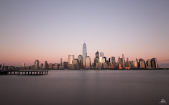 New York City (Domi Art Photography) Tags: ny nyc newyork manhattan newyorkcity skyline libertystatepark longexposure sky ocean hudson eastriver building buildings sunset sunrise reflection reflecting blue bluehour hour nd1000 worldtradecenter oneworldtradecenter wtc onewtc downtown downtownmanhattan usa people view landscape cityscape dreamscape
